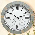 Natural Slate Weather Clock