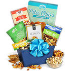 Banana Chips and Trail Mix Healthy Food Basket