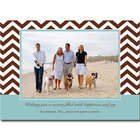 Chocolate Chevron Design Personalized Cards