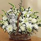 Heavenly Angel White Sympathy Basket