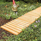 Wooden Straight Pathway for Yard