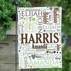 Family Word Art Garden Flag