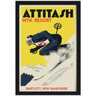 Ski Lodge Personalized Art Print