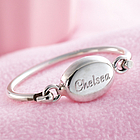 Personalized Child's Bangle Bracelet