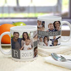 Family 5-Photo Collage Personalized Mug