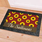 Personalized Sunflower Doormat
