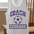 Sports Coach Personalized Tank Top