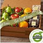 Organic Fruit & Snacks Box with Get Well Ribbon