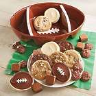 Ceramic Football Bowl with 24 Decorated Cookies
