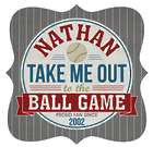 Personalized Game Time Baseball Metal Sign