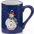 Personalized Red Hat Snowman Mug