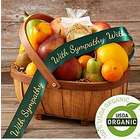Organic Living Fruit Basket with Sympathy Ribbon