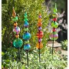 Glass Finial Totem Garden Stake