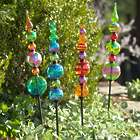 Colorful Glass Garden Stakes