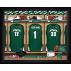 Personalized Michigan State Basketball Locker Room Print