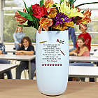 Teacher's Personalized Ceramic Vase with Poem