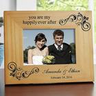 Personalized You Are My Happily Ever After Wood Photo Frame