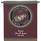 Personalized Marine Tapestry Wall Hanging