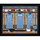 Personalized North Carolina Basketball Locker Room Framed Print