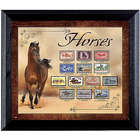 The Horse in US History Stamps in Wall Frame