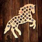 Galloping Stallion Beer Cap Map