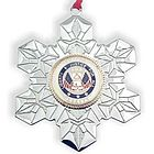 Engraved Veteran Military Service Christmas Ornament