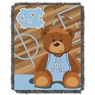North Carolina Tar Heels Teddy Bear Throw Blanket