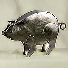 Cute Piggy Tin Sculpture