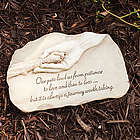Paw in Hand Pet Loss Garden Stone