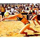 Walsh and May Treanor Volleyball Pop Art Print