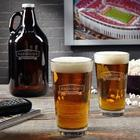 Classic Brewery Engraved Pint Glasses and Growler