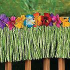 Colorful Hibiscus Green Fringe Decoration