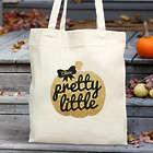 Personalized Pretty Little Pumpkin Tote Bag