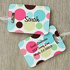 Crazy for Polka Dots Luggage Tag Set