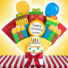 Happy Birthday Gourmet 5 Cookie Bouquet