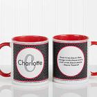 Personalized Polka Dot Monogram Mug