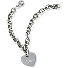 Personalized Stainless Steel Charm Bracelet