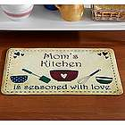 Personalized Seasoned With Love Comfort Foam Doormat