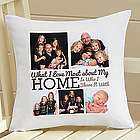 Personalized Heart of the Home Throw Pillow