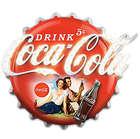 Coca-Cola Bottle Cap Lit Marquee Sign