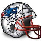 New England Patriots Football Helmet Accent Lamp