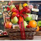 Sweet Christmas Fruit and Treats Gift Basket