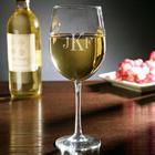Monogrammed White Wine Glass