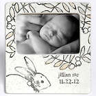 Baby's Personalized Ceramic Bunny Photo Frame