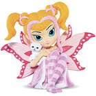 Jasmine Becket Griffith Breast Cancer Awareness Fairy with Kitten