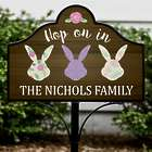 Personalized Hop On In Magnetic Metal Collapsible Yard Sign Set