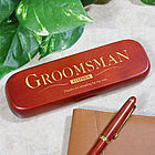 Personalized Groomsman Rosewood Pen Set