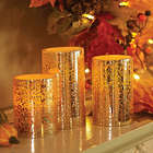 Mercury Glass LED Candle Set