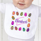 Personalized Easter Eggs Bib
