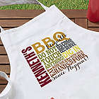 Barbecue Rules Personalized Apron